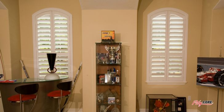 Arch Window Faux Wood Blinds