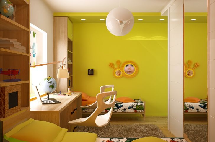 Color Wheel Interior Design for Teenage Girl Room