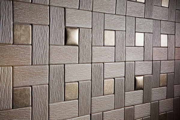 Faux Leather Tiles Grey