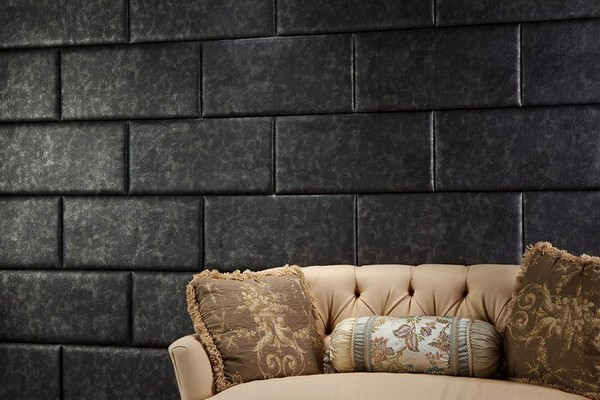 Faux Leather Tiles with Stone Colors