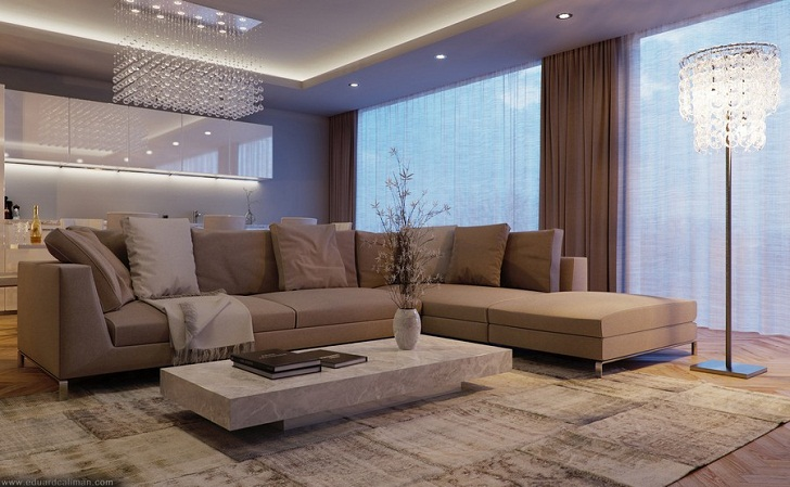 Luxurious Living Room Interior Design from Eduard Caliman