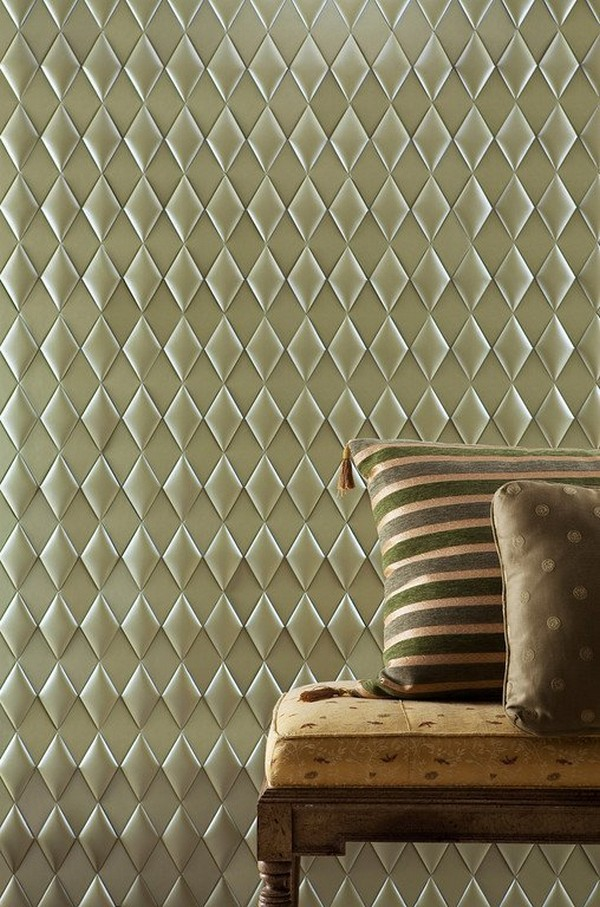 Metallic Faux Leather Tiles