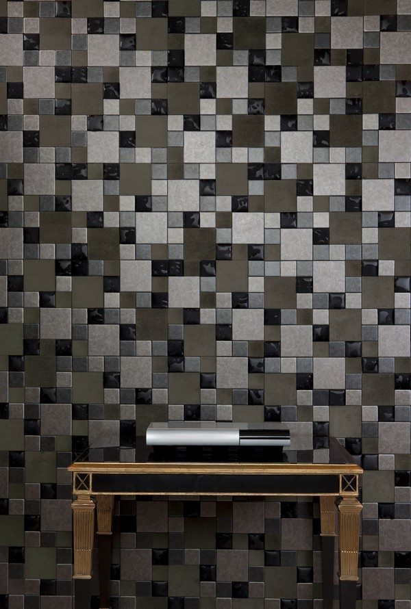 Mix Faux Leather Tiles for Wall