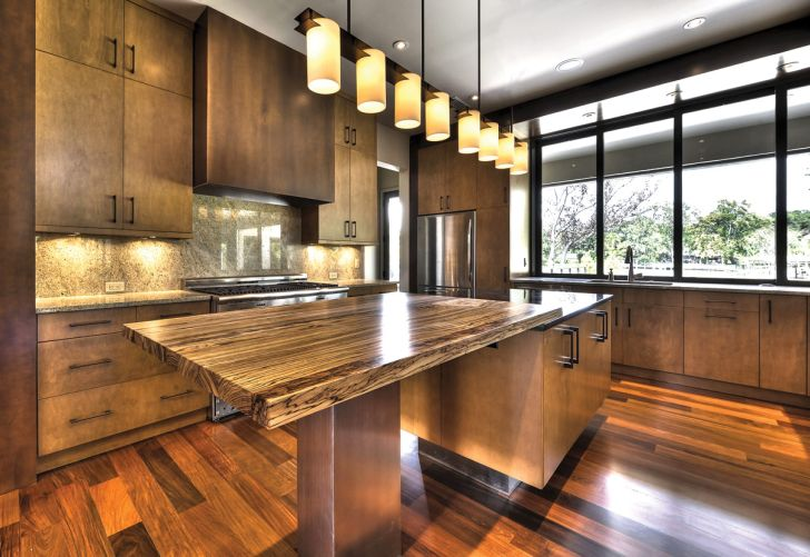Wood kitchen countertops pros and cons home design tips for Birch kitchen cabinets pros and cons