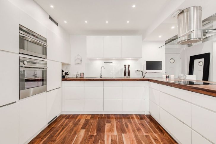White and Silver Kitchen Scandinavian Apartment ? Home Design Tips