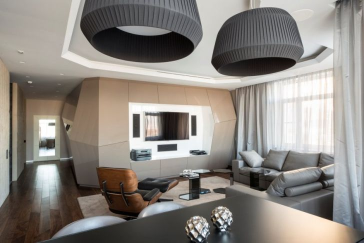 Futuristic and Contemporary Apartment by Geometrix Design
