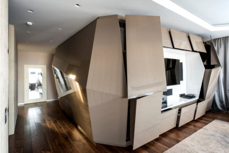 Futuristic and Contemporary Apartment by Geometrix Design