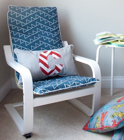 nautical themed ikea poang chair hack