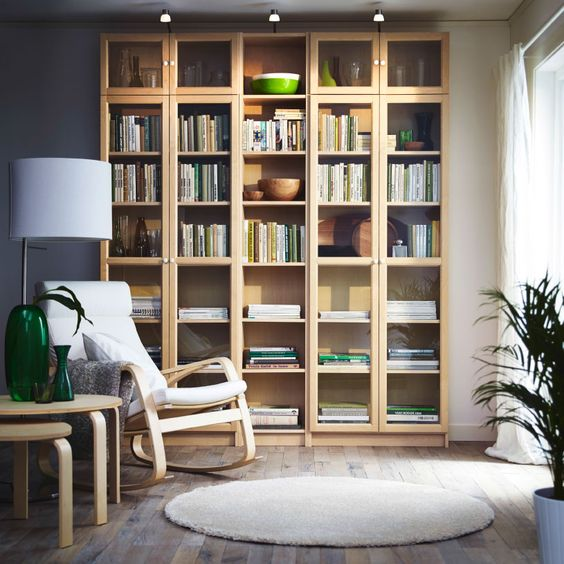 white ikea poang chair for a reading corner