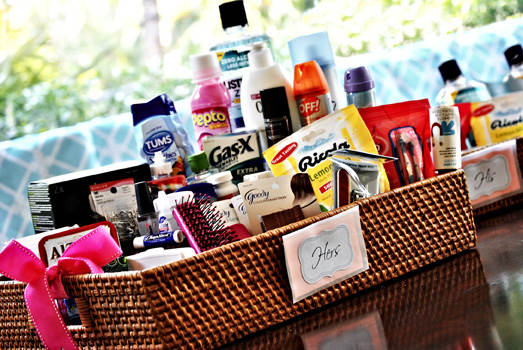 Wedding Reception Bathroom Basket Items