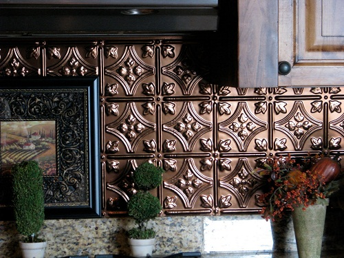 Kitchen Tin Backsplash Ideas