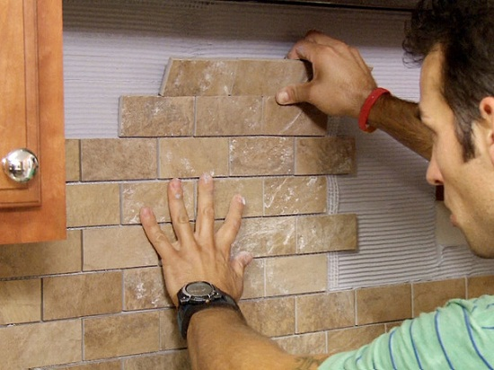 DIY Kitchen Backsplash Tile