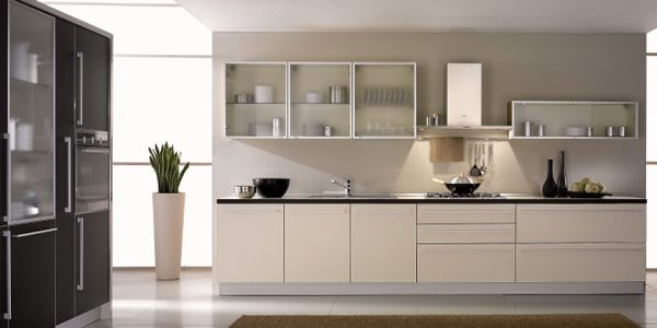 Frosted Glass Front Kitchen Cabinets