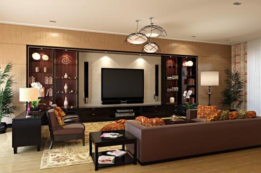 Brown Rooms Color Schemes