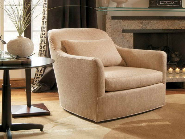 Upholstered swivel chairs for living room home design tips and guides for Swivel chairs for living room contemporary