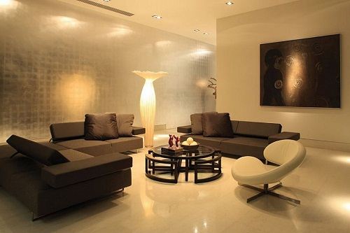 Wall Colors with Brown Couch