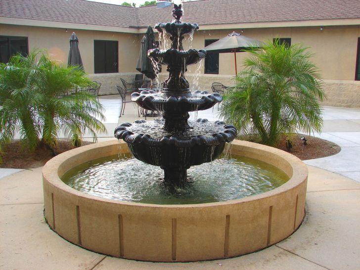 Courtyard Fountains at Church