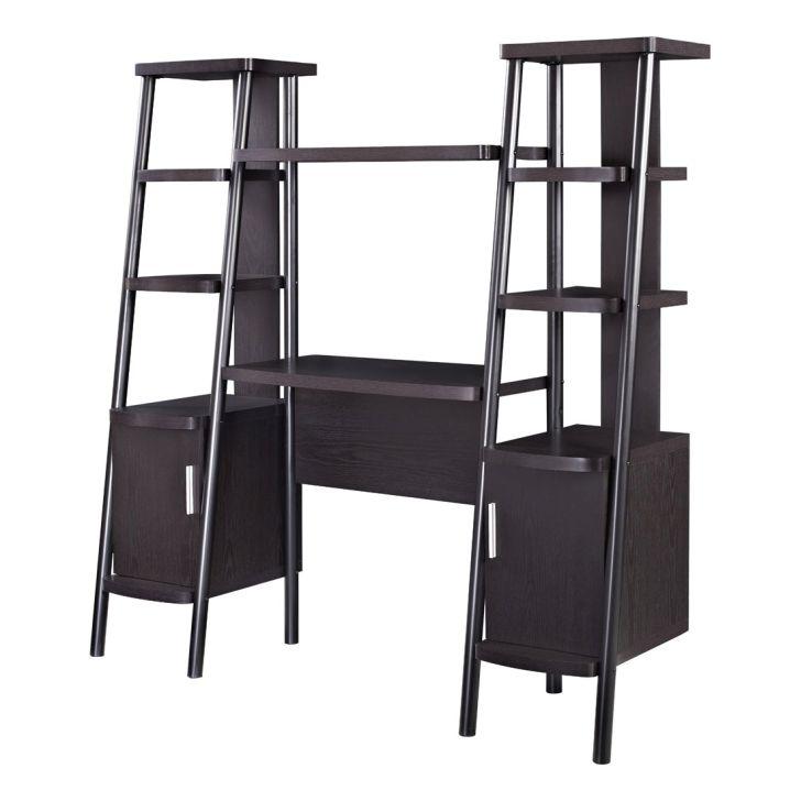 Ladder Bookcases Altra Espresso Towers with Desk