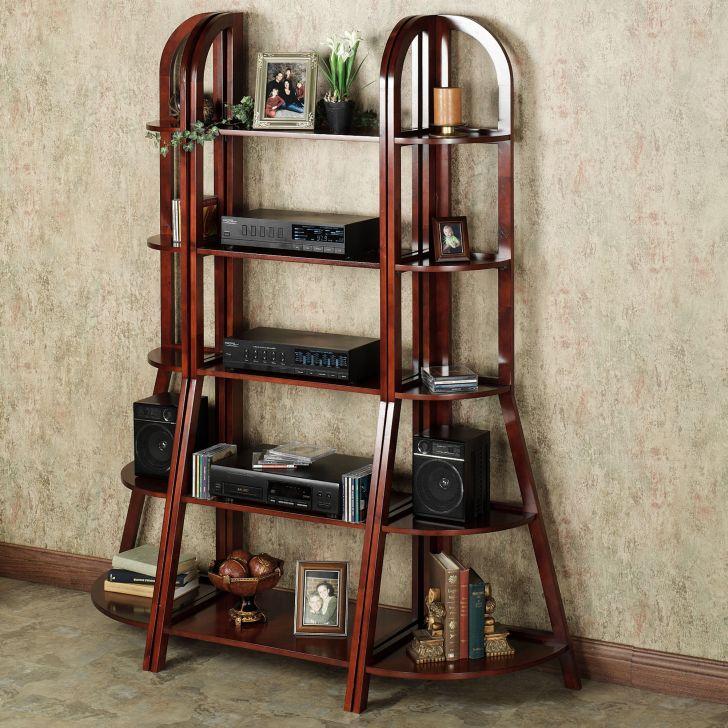 Ladder Bookcases Corner Shelf Pair Classic