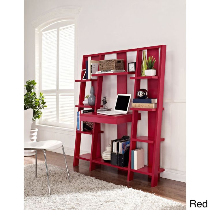Ladder Bookcases Red