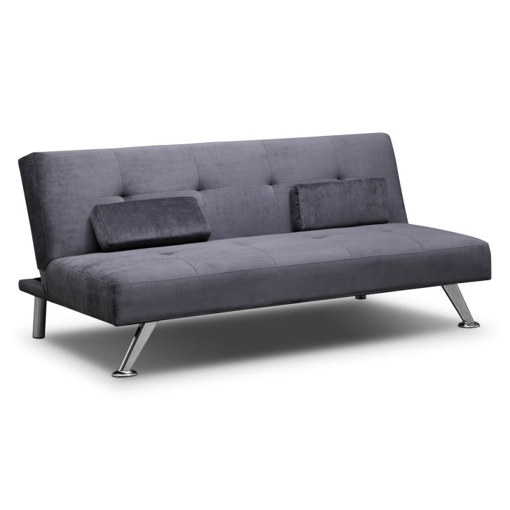Cheap Futon Sofa Bed Marlene Charcoal