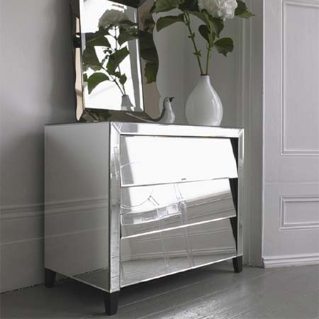 Mirrored Furniture Design for Bedroom