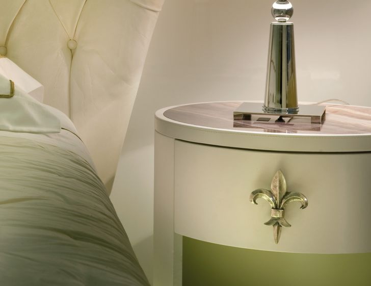 Nightstand Bedroom Lovely Round Shape