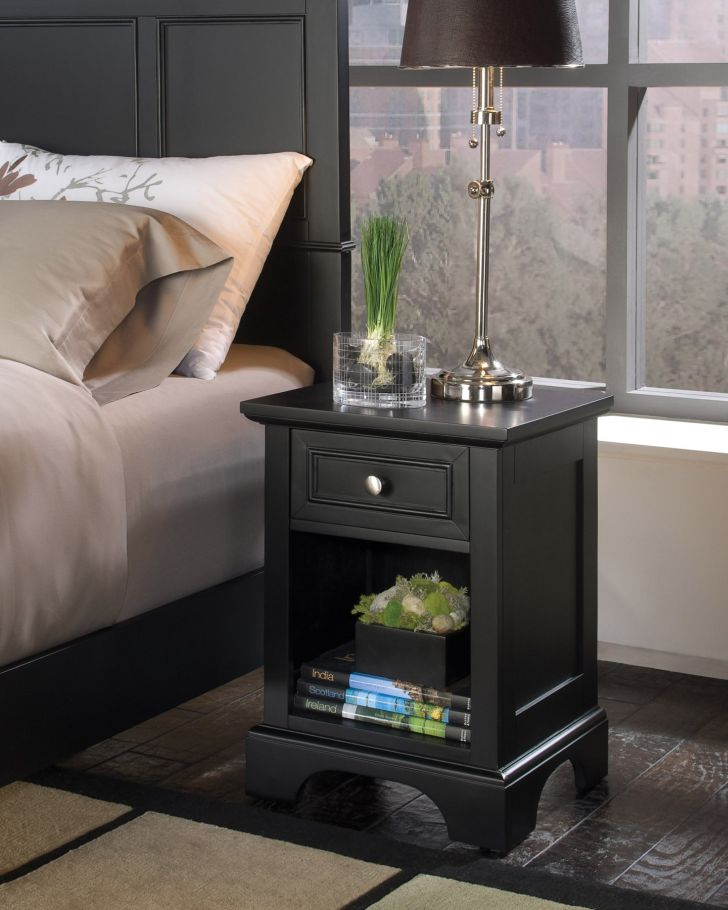 Nightstand Great Metal Top with Single Drawer