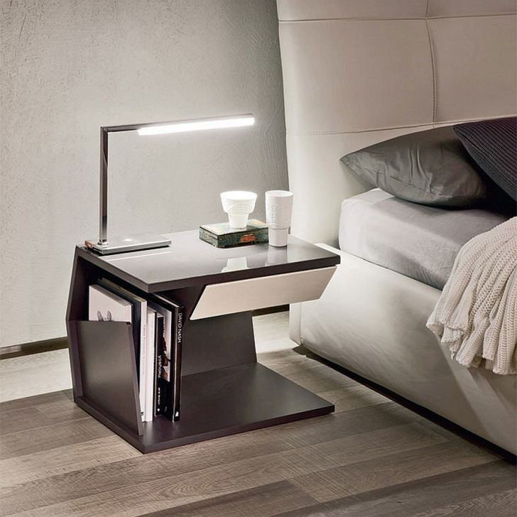 Nightstand bedroom with Sleek Ultra Minimal and Classy