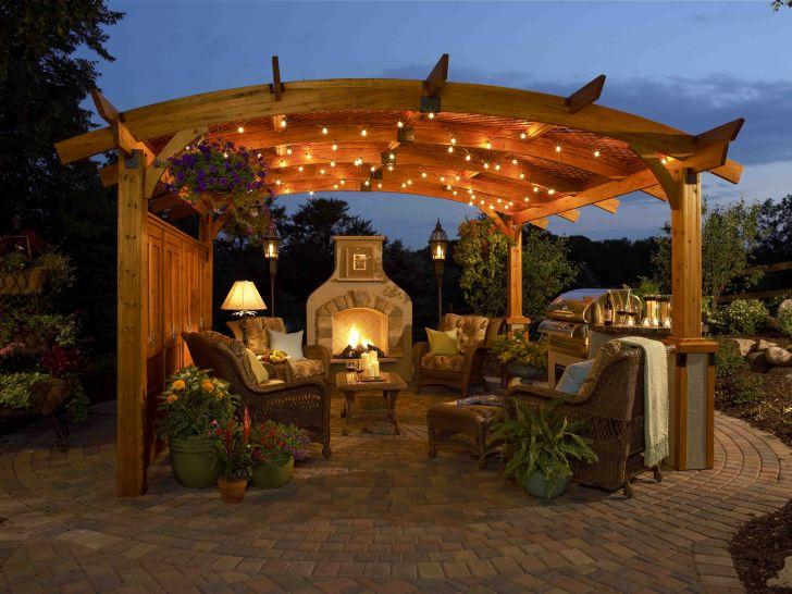 Outdoor Gazebo Design Sonoma Greatroom Pergola Evening