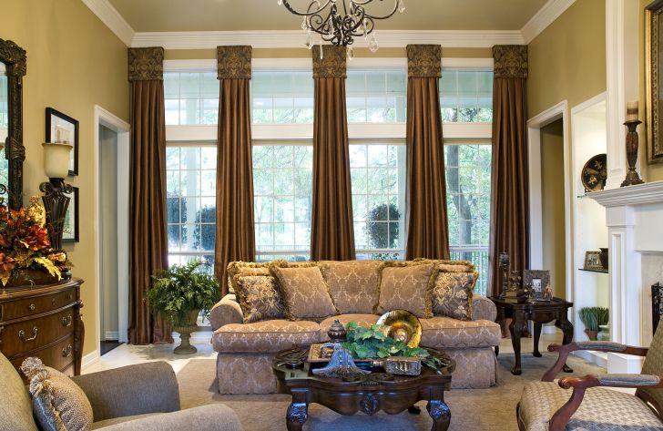 Window Treatments For Tall Windows Large