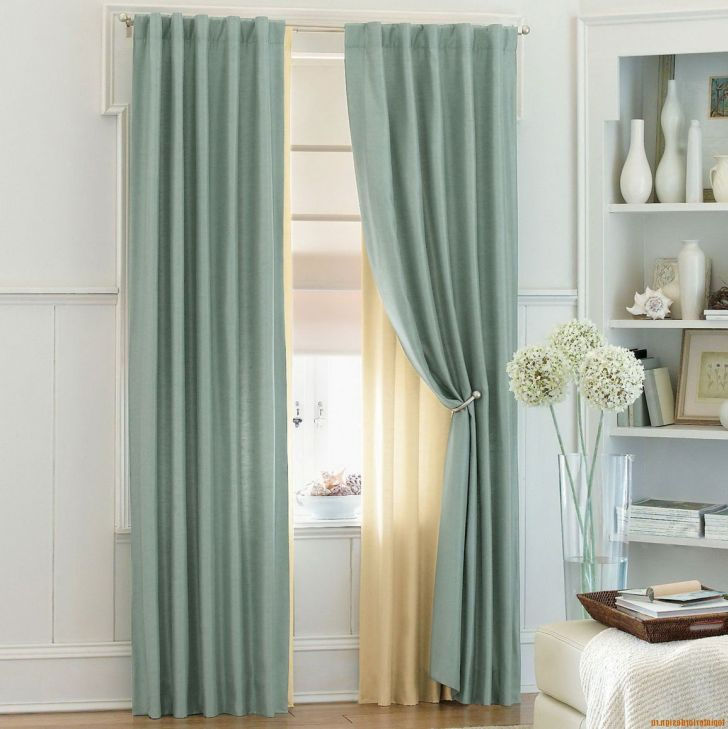 Window Treatments For Tall Windows with Transparent Beige
