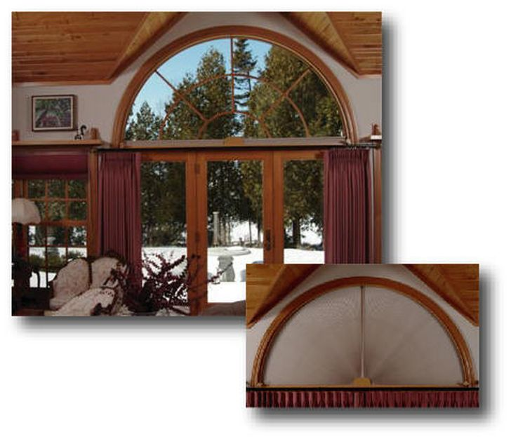 Retractable Arch Window Blinds