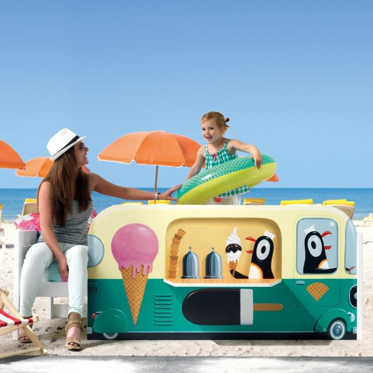 Illustrated Ice Cream Van Bed
