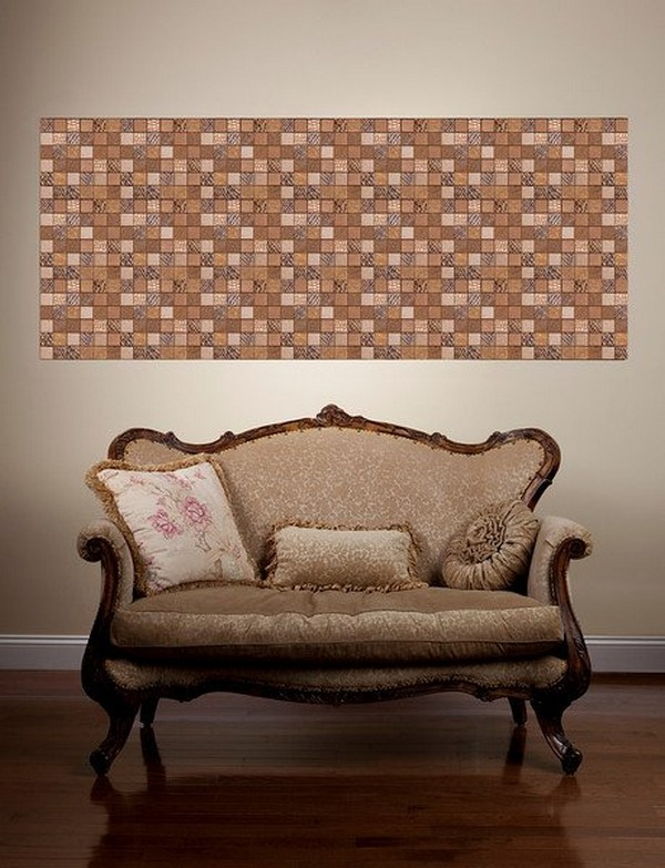 Faux Leather Tiles for Wall