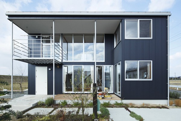 Japanese Countryside Prefab Home with Angular Home Ideas