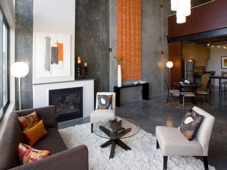 Open Home Floor Plan Fireplace