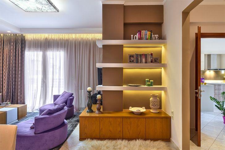 Side View Modern Apartment Seasonal Theming