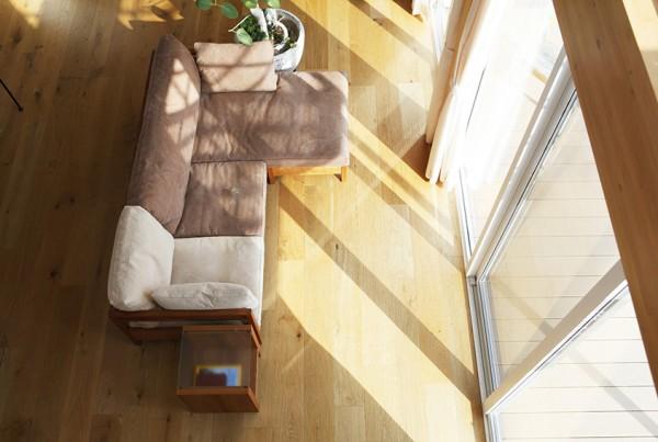 Simple Wood Framed Sofa