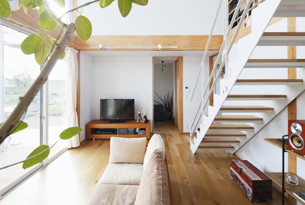 White Staircase Design