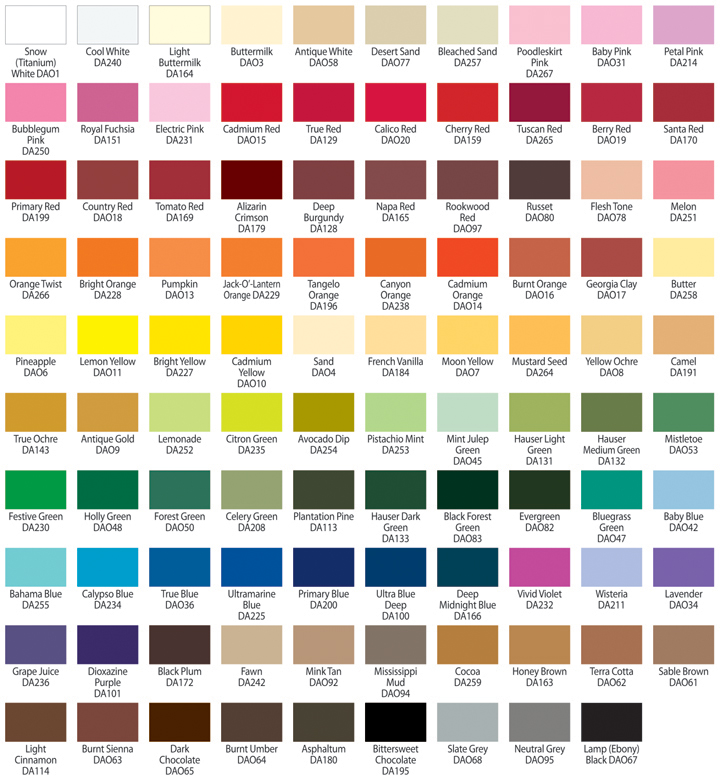 Paint Conversion Chart Americana