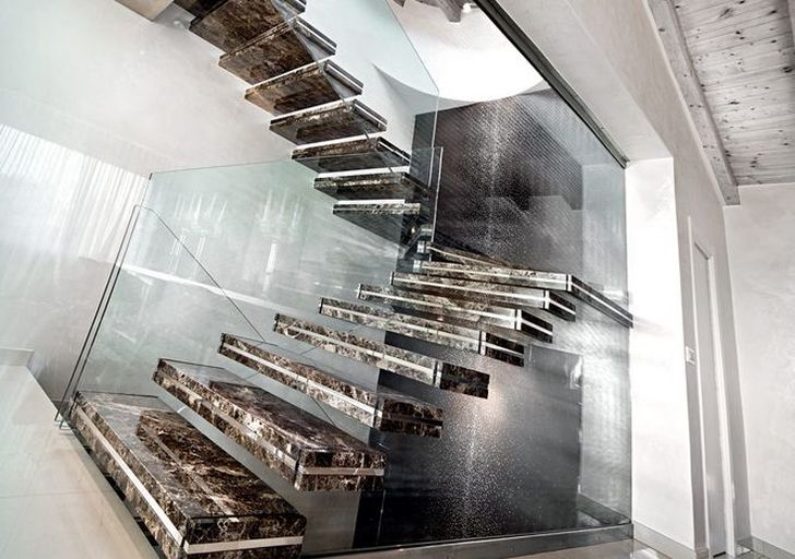 Glowing Staircase of CORIAN