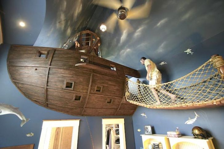 Pirate Ship Inspired Bedroom