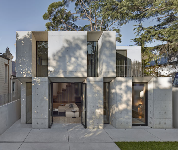 Two Storey Concrete and Timber Frame House