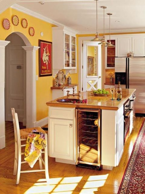 kitchen islands with built-in appliances